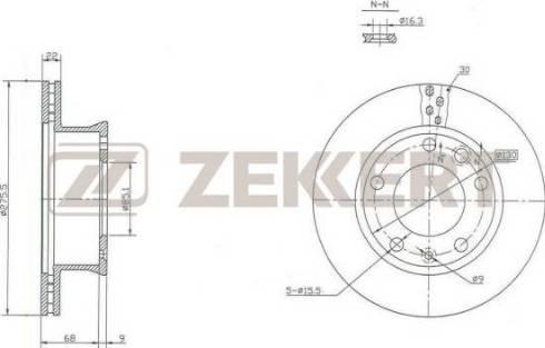 Zekkert BS-5199 - Bremžu diski interparts.lv