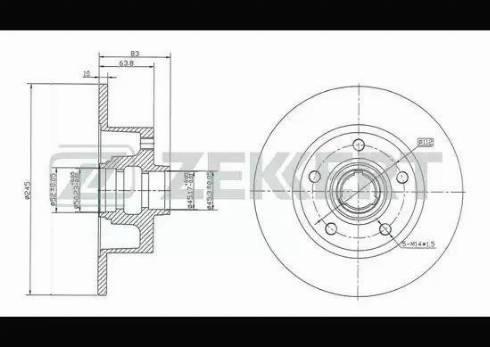 Zekkert BS-5194 - Bremžu diski interparts.lv