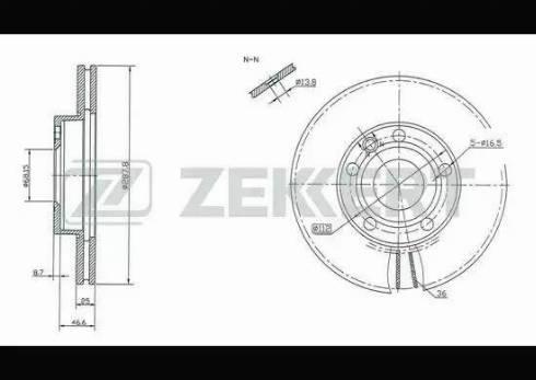 Zekkert BS-5198 - Bremžu diski interparts.lv
