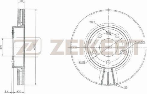 Zekkert BS-5141 - Bremžu diski interparts.lv