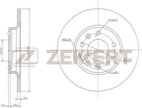 Zekkert BS-5161 - Bremžu diski interparts.lv