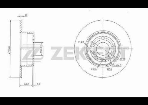 Zekkert BS-5163 - Bremžu diski interparts.lv