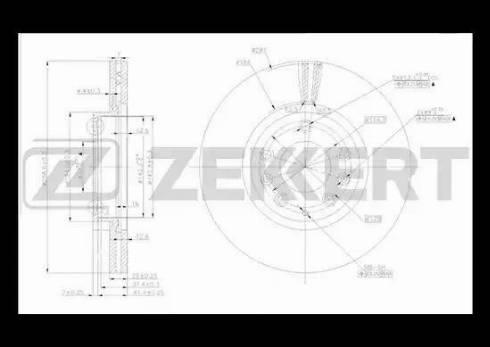 Zekkert BS-5162 - Bremžu diski interparts.lv