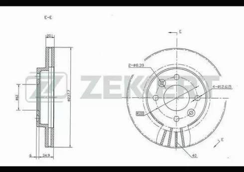 Zekkert BS-5106 - Bremžu diski interparts.lv