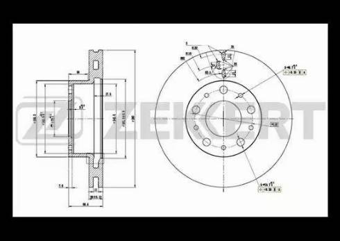 Zekkert BS-5108 - Bremžu diski interparts.lv