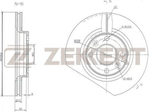 Zekkert BS-5107 - Bremžu diski interparts.lv