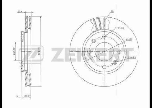 Zekkert BS-5115 - Bremžu diski interparts.lv