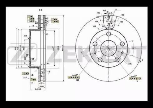 Zekkert BS-5111 - Bremžu diski interparts.lv