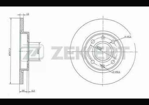 Zekkert BS-5117 - Bremžu diski interparts.lv