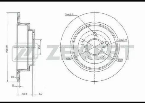 Zekkert BS-5180 - Bremžu diski interparts.lv