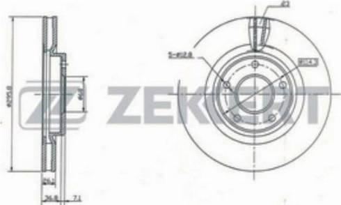 Zekkert BS-5183 - Bremžu diski interparts.lv