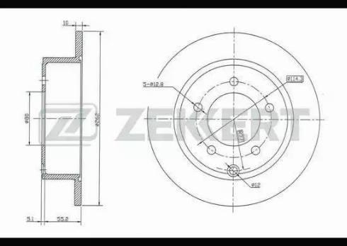Zekkert BS-5135 - Bremžu diski interparts.lv