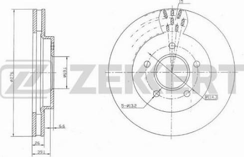Zekkert BS-5136 - Bremžu diski interparts.lv