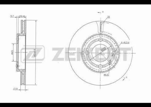 Zekkert BS-5127 - Bremžu diski interparts.lv