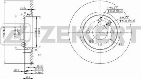 Zekkert BS-5179 - Bremžu diski interparts.lv