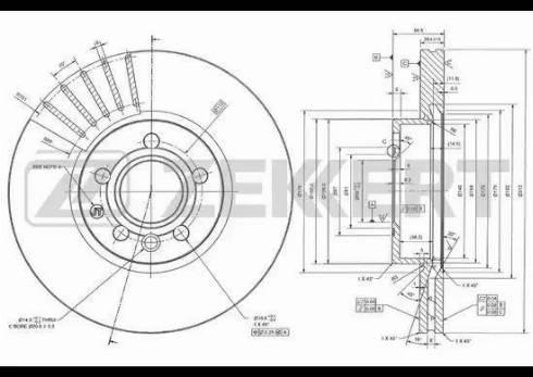 Zekkert BS-5846 - Bremžu diski interparts.lv