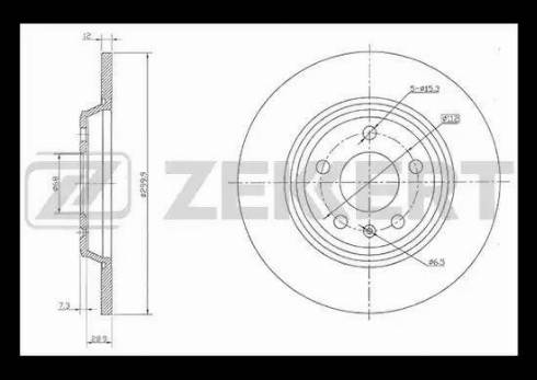Zekkert BS-5842 - Bremžu diski interparts.lv