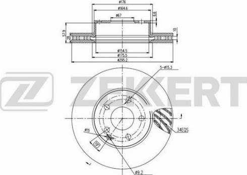 Zekkert BS-5853 - Bremžu diski interparts.lv