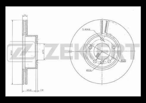 Zekkert BS-5852 - Bremžu diski interparts.lv