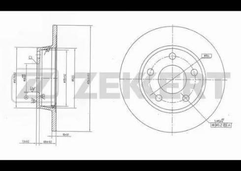 Zekkert BS-5806 - Bremžu diski interparts.lv