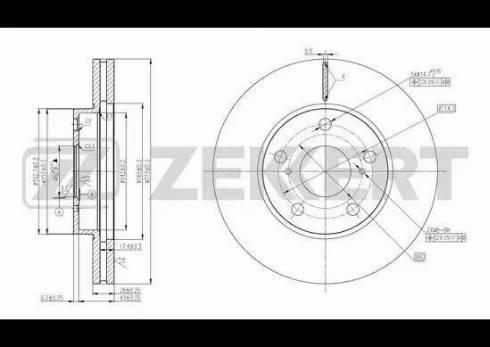 Zekkert BS-5801 - Bremžu diski interparts.lv