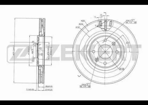 Zekkert BS-5812 - Bremžu diski interparts.lv