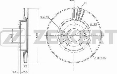 Zekkert BS5882 - Bremžu diski interparts.lv