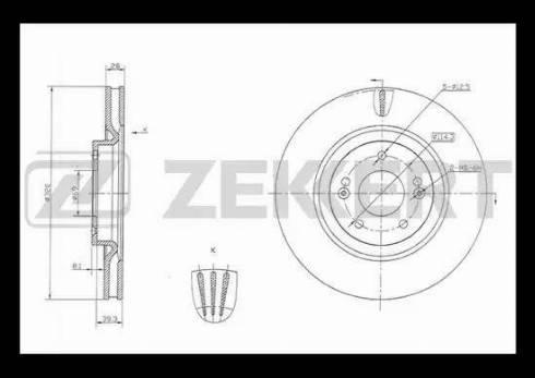 Zekkert BS-5834 - Bremžu diski interparts.lv