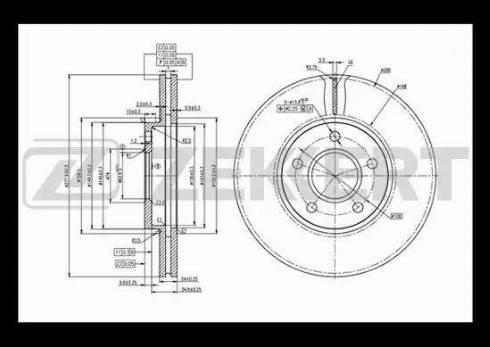 Zekkert BS-5394 - Bremžu diski interparts.lv