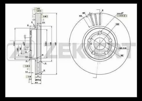 Zekkert BS-5397 - Bremžu diski interparts.lv