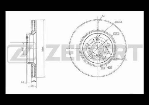 Zekkert BS-5340 - Bremžu diski interparts.lv