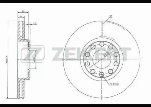 Zekkert BS-5360 - Bremžu diski interparts.lv