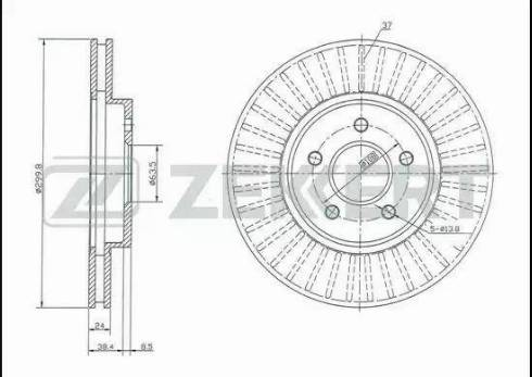 Zekkert BS-5361 - Bremžu diski interparts.lv