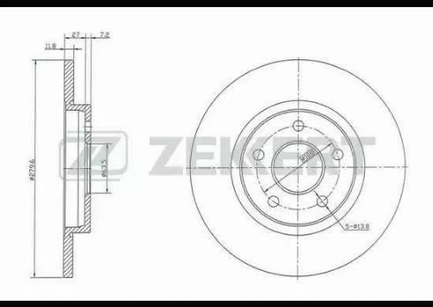 Zekkert BS-5362 - Bremžu diski interparts.lv