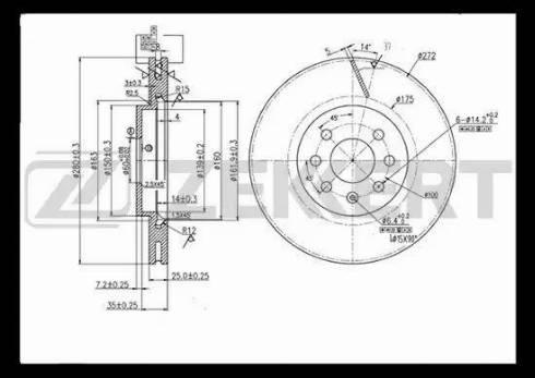 Zekkert BS-5307 - Bremžu diski interparts.lv