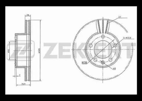 Zekkert BS-5311 - Bremžu diski interparts.lv