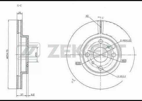 Zekkert BS-5318 - Bremžu diski interparts.lv