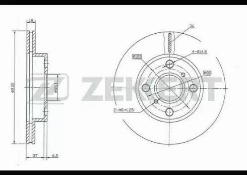 Zekkert BS-5317 - Bremžu diski interparts.lv