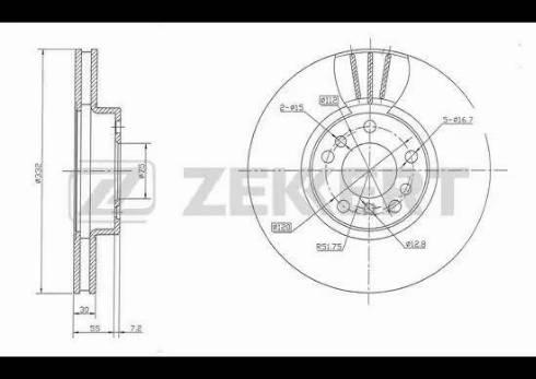 Zekkert BS-5335 - Bremžu diski interparts.lv