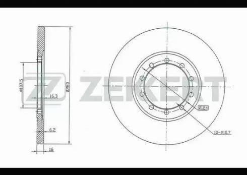 Zekkert BS-5330 - Bremžu diski interparts.lv