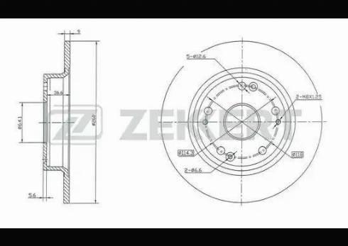 Zekkert BS-5338 - Bremžu diski interparts.lv