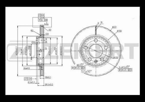 Zekkert BS-5337 - Bremžu diski interparts.lv