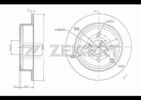 Zekkert BS-5378 - Bremžu diski interparts.lv