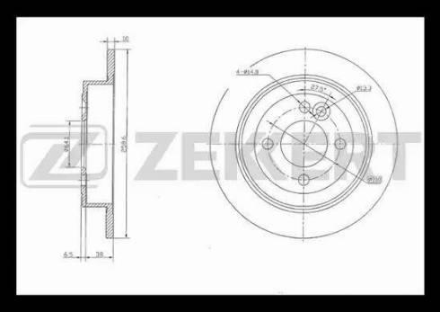 Zekkert BS-5372 - Bremžu diski interparts.lv