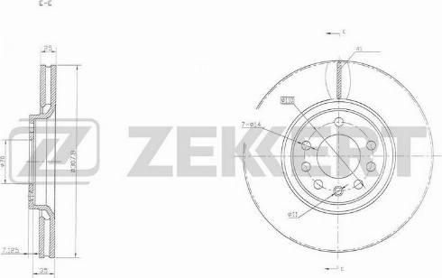 Zekkert BS-5294 - Bremžu diski interparts.lv