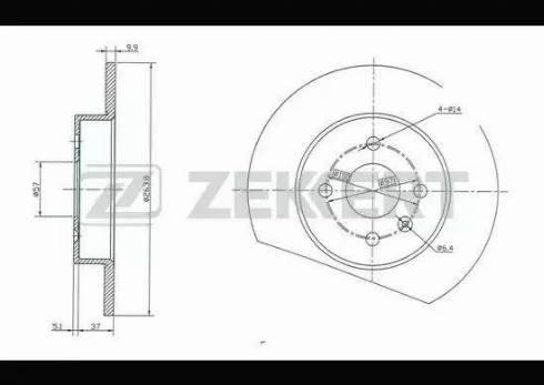 Zekkert BS-5293 - Bremžu diski interparts.lv