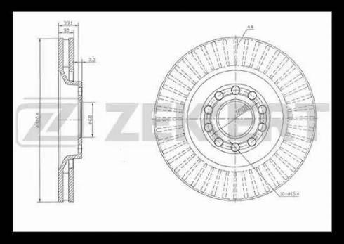 Zekkert BS-5245 - Bremžu diski interparts.lv