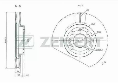 Zekkert BS-5248 - Bremžu diski interparts.lv