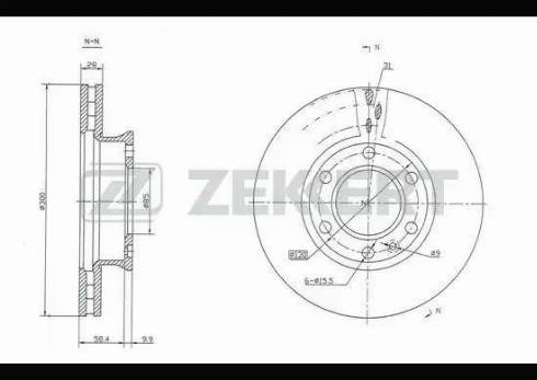 Zekkert BS-5256 - Bremžu diski interparts.lv