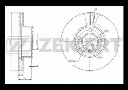 Zekkert BS-5258 - Bremžu diski interparts.lv